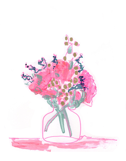 art prints - Pink Bouquet with Peonies by Oana Barac-Matei
