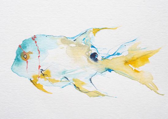 art prints - Angel Fish by Nina Lewis