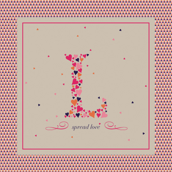 art prints - spread love by carmengolden