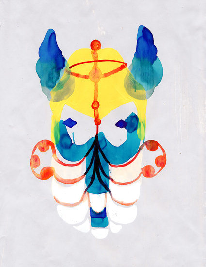 art prints - Horn Mask by Sara Christian