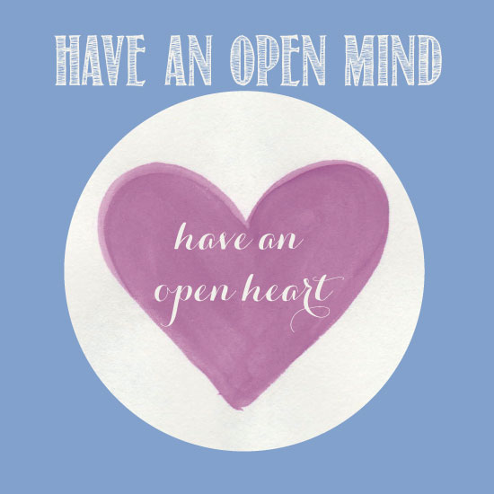 art prints - open mind open heart by Pippi and Penelope