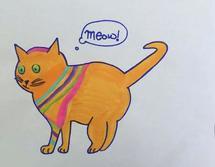 Minas cat by Andi Barbuto