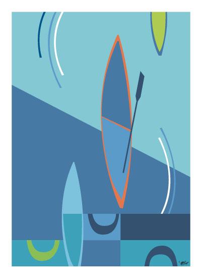 art prints - Boat Races by Marjie Best