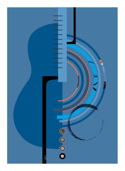 art prints - Making Music by Marjie Best