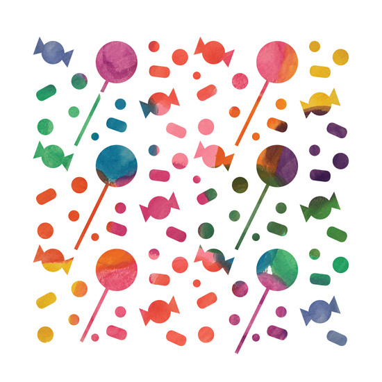 art prints - Colorful Candy by Thoroughly Curly Designs