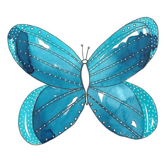 art prints - Butterfly Love, No. 3 by Kathryn Cole