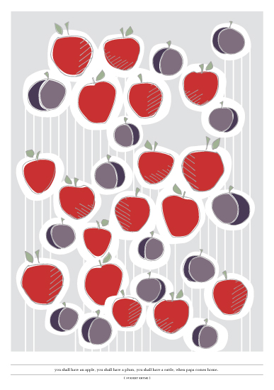 art prints - apples and plums by Whisper Paper Co.