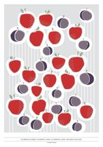 apples and plums by Whisper Paper Co.