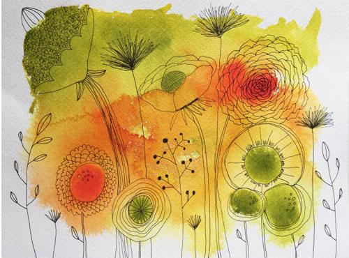 art prints - Springtime Cheer by Kelly K. Mackura