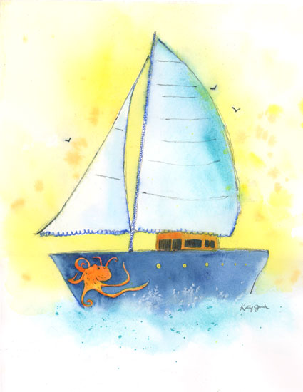 art prints - Sailing, Sailing by Kathy Jurek