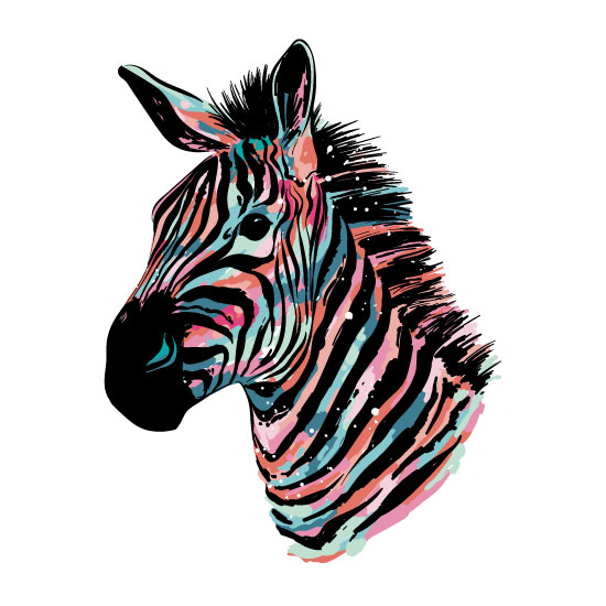 art prints - Be Yourself Zebra by Elizabeth Atlas