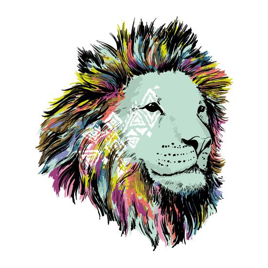 art prints - Let Your Colors Shine Lion by Elizabeth Atlas