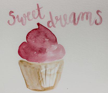 art prints - dreaming of sweets by Kathleen Baldwin