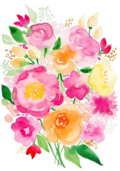 art prints - Boho Bouquet by Michelle Mospens