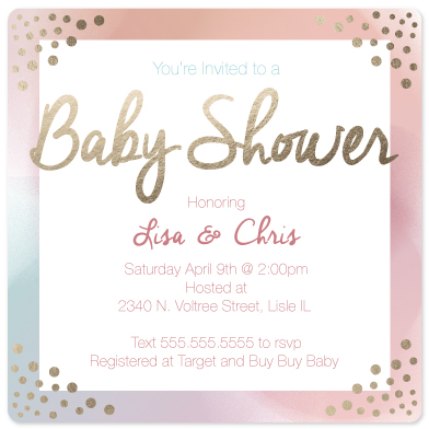 baby shower invitations - Color Haze by Erica Burton