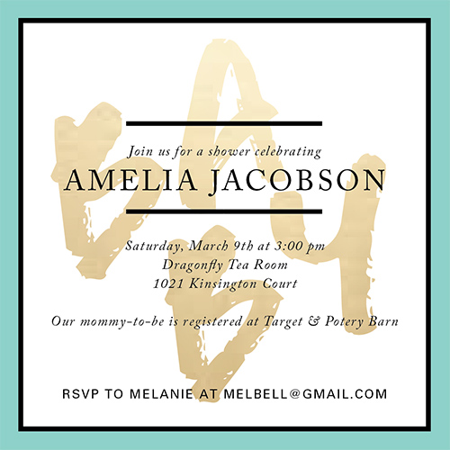 baby shower invitations - Artistic Elegance Baby Shower by Katrina Marie