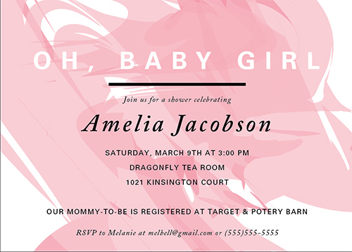 baby shower invitations - Oh, Baby Girl by Katrina Marie