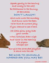 """Be Kind To Animals"" by cat hat"