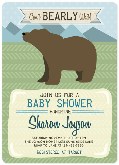 baby shower invitations - Can't Bearly Wait by Melissa Alexander