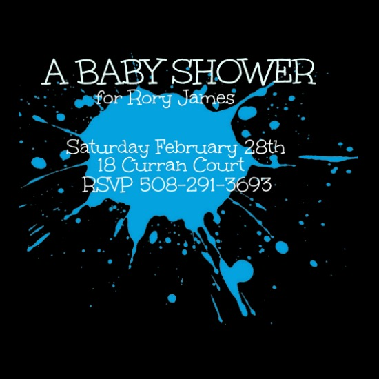 baby shower invitations - ELECTRIC by Kayla Pisto