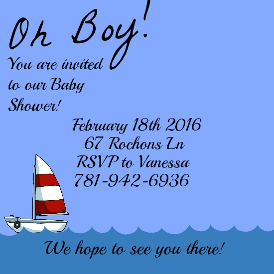 baby shower invitations - Oh Boy! by Kayla Pisto