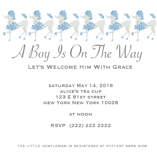 baby shower invitations - A Little Boy Is On The Way by Jane CoCo Cowles
