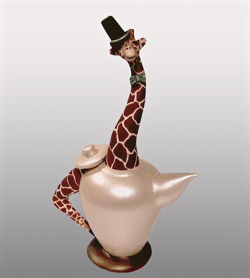 art prints - top hat teapot by Missy Kaolin