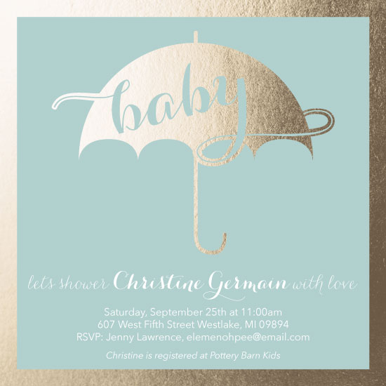 baby shower invitations - Shimmer Shower by Sara Rovell