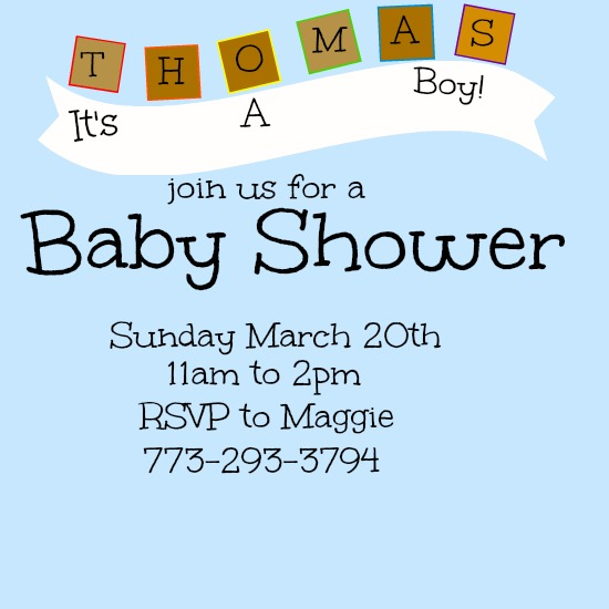 baby shower invitations - Building Blocks by Kayla Pisto