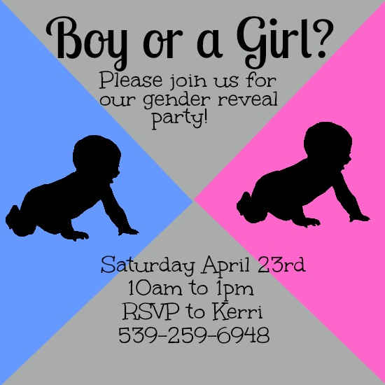 baby shower invitations - Pink and Blue by Kayla Pisto