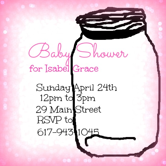 baby shower invitations - Mason Jar by Kayla Pisto