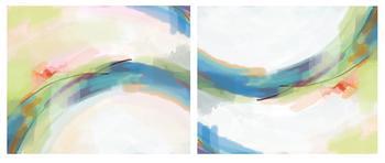 rainbow wave (diptych)