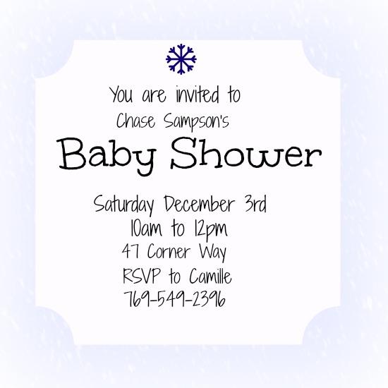 baby shower invitations - Winter Wonders by Kayla Pisto