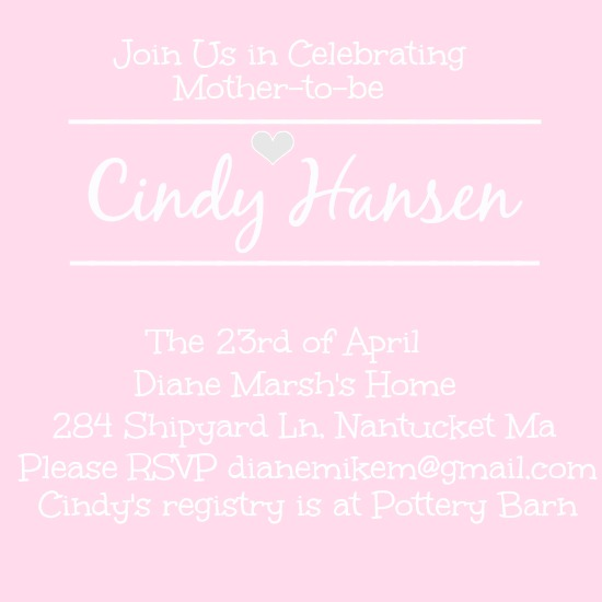 baby shower invitations - Mommy to Be by Kayla Pisto