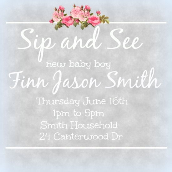 baby shower invitations - Sip and See by Kayla Pisto