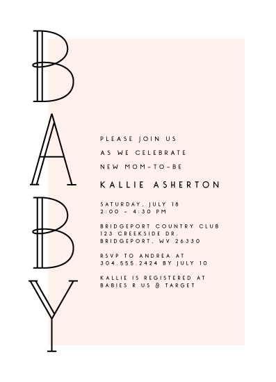 baby shower invitations - In line by Lea Delaveris