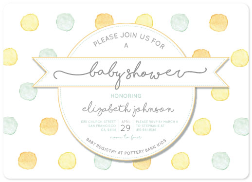 baby shower invitations - Lots of Dots by Lili Pham