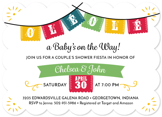 Baby Shower Invitations Fiesta Couple S Shower At Minted Com