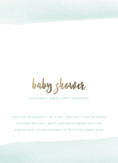 baby shower invitations - Watercolor Baby by Lisa Krueger
