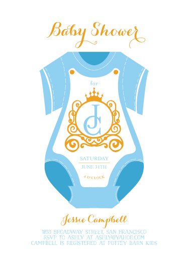 baby shower invitations - leebert's polo by Reynan Racaza