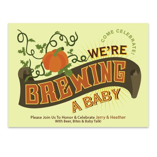 baby shower invitations - Brewing a Baby by Heather Bunker
