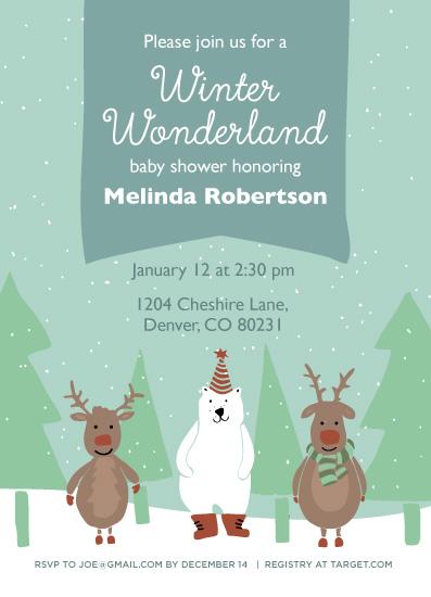 baby shower invitations - Winter Wonderland by Lisa Weber