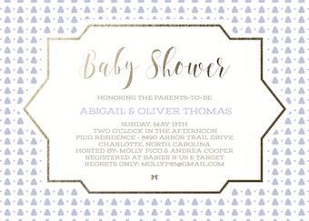 baby shower invitations - Periwinkle Surprise by Danielle Dorton