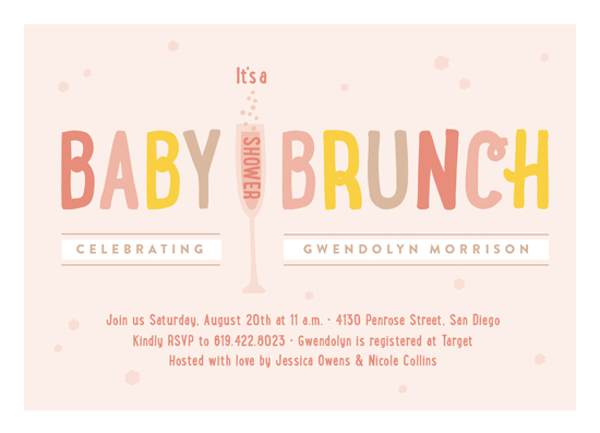 Exceptional Baby Shower Invitations   Baby Brunch By Erica Krystek