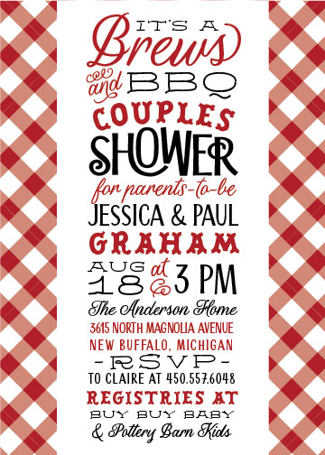 baby shower invitations - Baby Brews & BBQ by Sarah Guse Brown