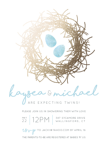 baby shower invitations - A Perfect Little Pair by Jacki Loomis