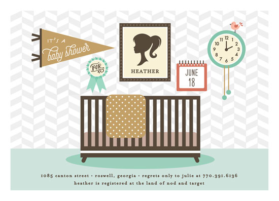 baby shower invitations - Mod Nursery by Jennifer Postorino