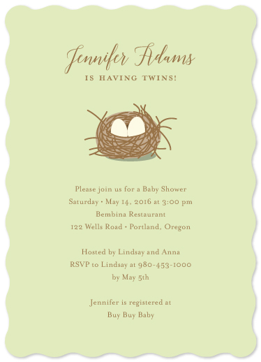 baby shower invitations - twin eggs by jellyjollyho