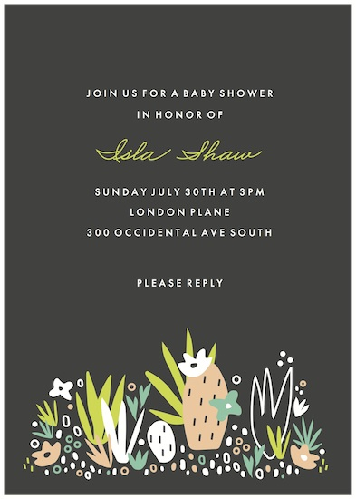 baby shower invitations - Agave Bebe by Marabou Design