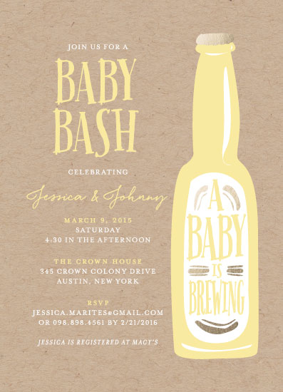 baby shower invitations - Brewing baby love by heythird